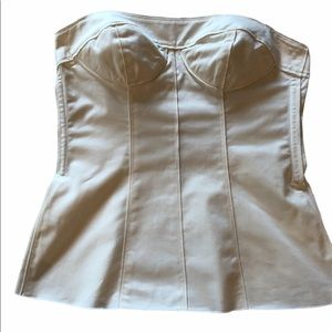 D&G Ivory Bustier Corset Top | Size 46/ US 10